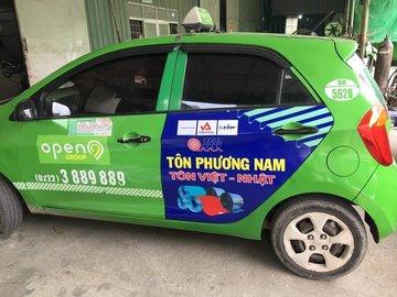 Quảng cáo taxi Open 99