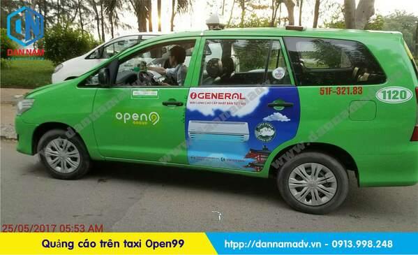 quảng cáo trên taxi open