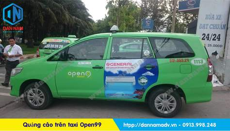 quảng cáo trên taxi open99