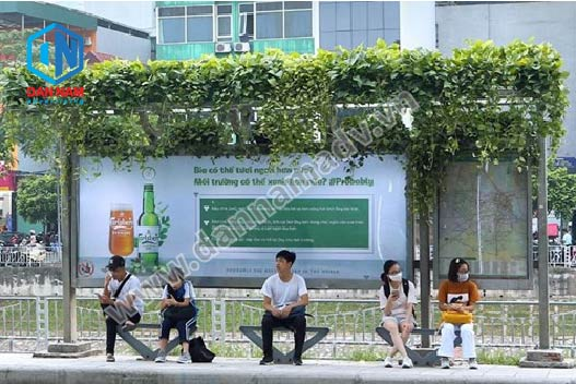 quảng cáo trạm dừng xe bus hà nội