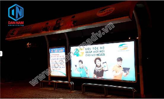 quảng cáo nhà chờ xe bus hà nội