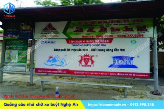 Quảng cáo nhà chờ xe bus Nghệ An