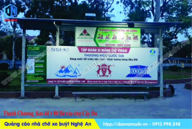 quảng cáo trạm dừng xe bus nghệ an