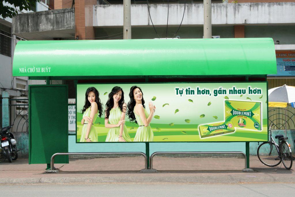 quảng cáo trạm dừng xe buýt