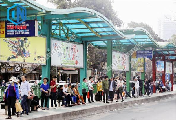 quảng cáo trạm dừng xe buýt tại Hà Nội
