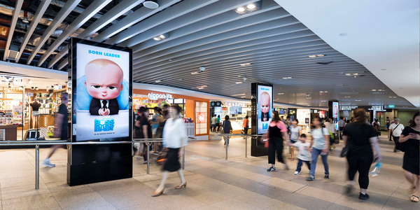 Quảng cáo màn hình LED tại sân bay