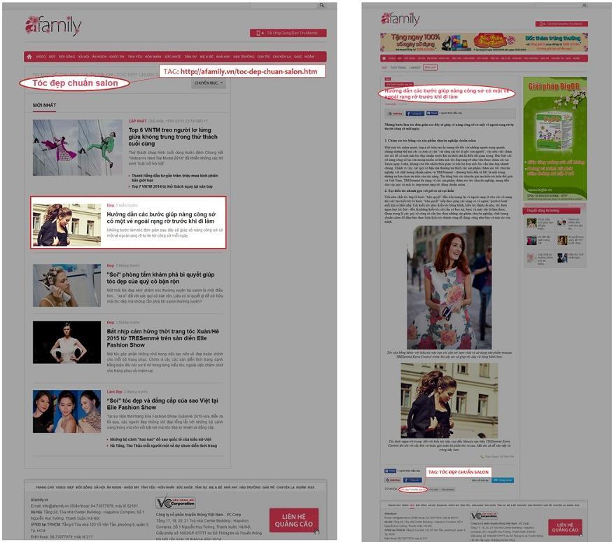 bảng giá quảng cáo trên báo Afamily