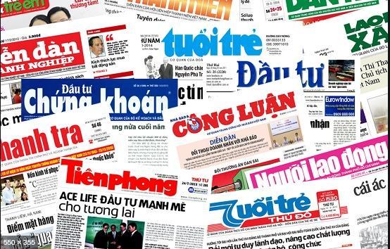 quảng cáo trên báo giấy