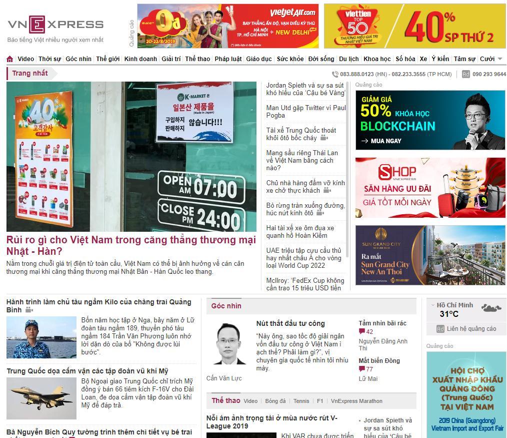 quảng cáo báo điện tử - vnexpress