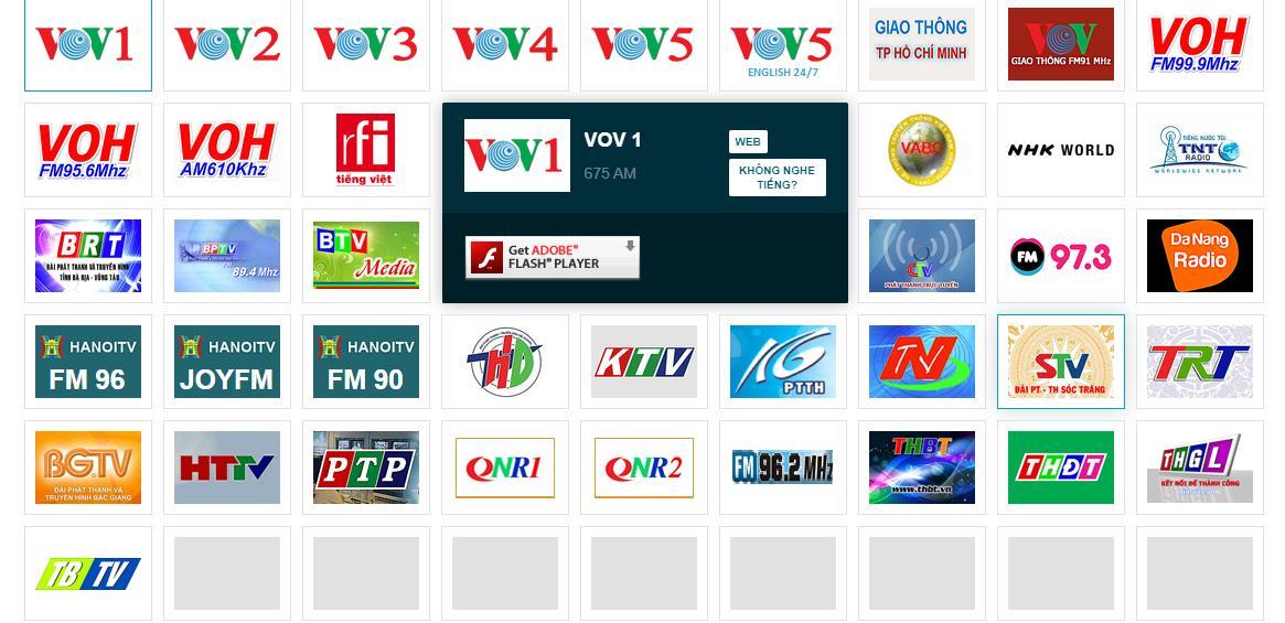 quảng cáo trên radio 63 tỉnh thành