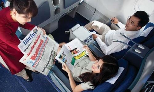 quảng cáo tạp chí trên máy bay