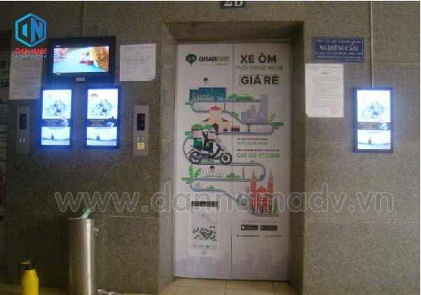 Quảng cáo LCD/frame thang máy tại một tòa nhà