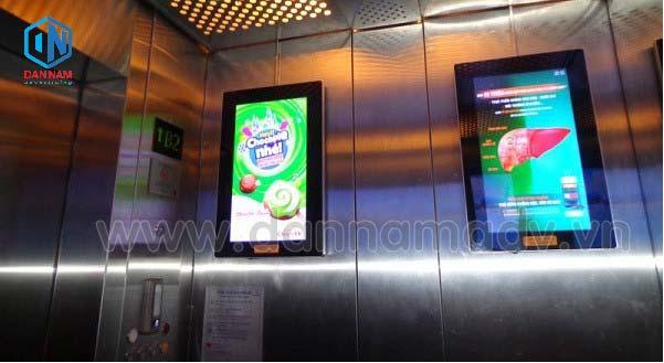 Quảng cáo Frame thang máy trong một chung cư