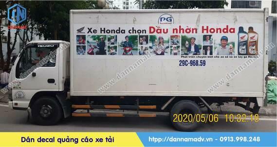 dán quảng cáo xe tải đông lạnh