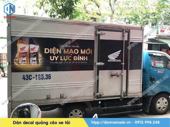 dán decal quảng cáo xe tải đông lạnh
