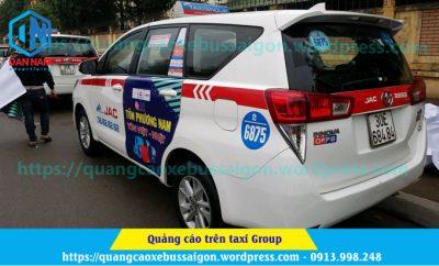 quảng cáo taxi group của tôn phương nam