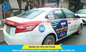 quảng cáo trên taxi group tại hà nội của tôn phương nam
