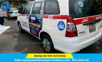 quảng cáo taxi group của tôn phương nam tại hà nội