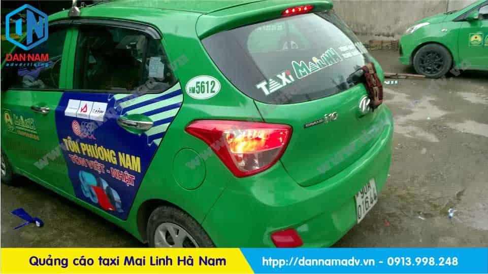 Quảng cáo taxi Mai Linh Hà Nam - Tôn Phương Nam
