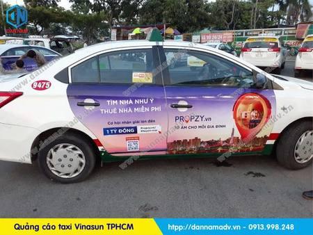 bds prozy quảng cáo trên taxi vinasun