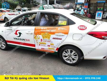 bột tài ký quảng cáo taxi vinasun tại TPHCM