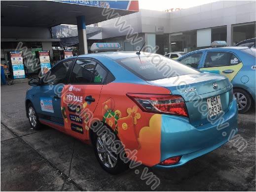 Quảng cáo trên taxi Cần Thơ