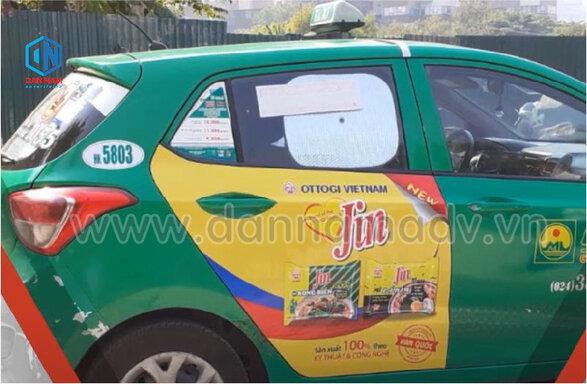 Quảng cáo trên 2 cánh cửa xe taxi Mai Linh Hải Phòng - Bánh Bibica