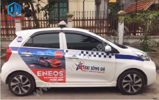 Quảng cáo taxi Hòa Bình - Dầu Nhớt Eneos