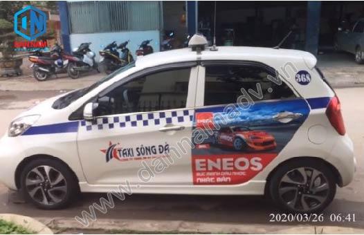 Dầu Nhớ Eneos Quảng cáo taxi Sông Đà tại Hòa Bình