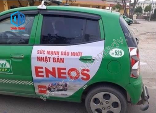 Quảng cáo taxi Mai Linh Vĩnh Phúc - Dầu Nhớt Eneos
