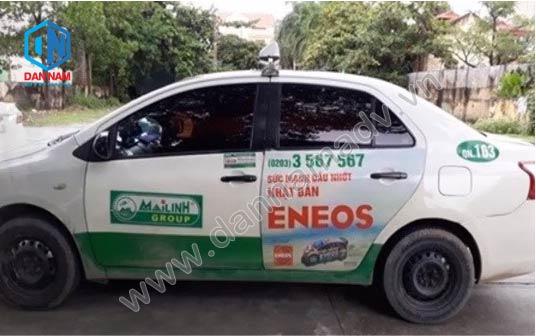Dầu Nhớ Eneos Quảng cáo taxi Mai Linh tại Vĩnh Phúc