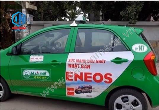 Quảng cáo trên taxi Mai Linh Vĩnh Phúc - Dầu Nhớt Eneos