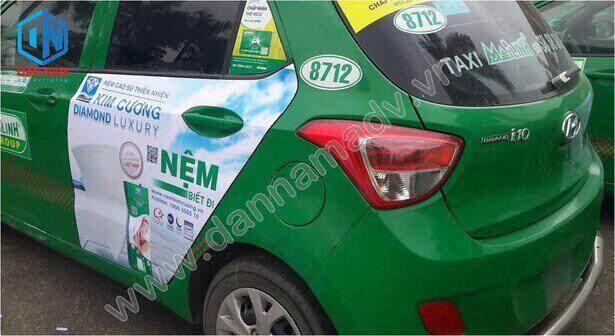 Quảng cáo taxi Mai Linh tại Bắc Ninh của Nệm Kim Cương