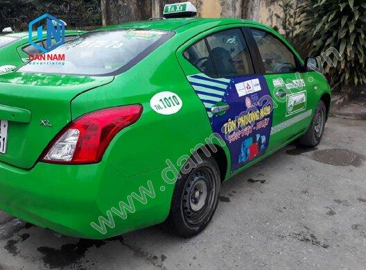 Quảng cáo trên taxi Mai Linh Bến Tre - Tôn Phương Nam
