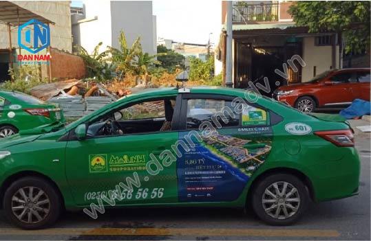 Quảng cáo taxi Bình Dương