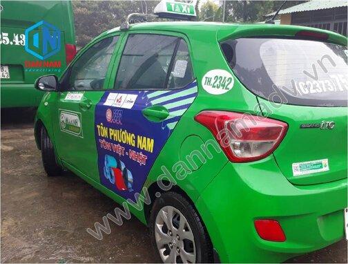 Quảng cáo trên taxi Mai Linh Bình Thuận - Tôn Phương Nam