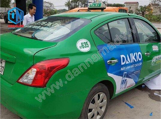 Quảng cáo taxi Cao Bằng - Máy điều hòa Daikio