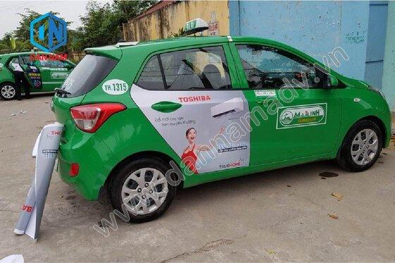 Quảng cáo taxi Điện Biên