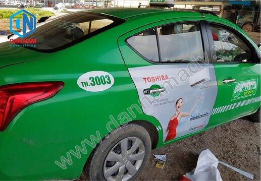 Quảng cáo trên taxi Mai Linh Điện Biên - Toshiba