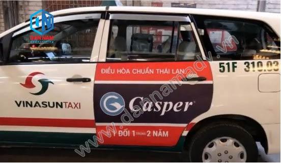 Điều Hòa Casper Quảng cáo trên taxi Vinasun Đồng Nai
