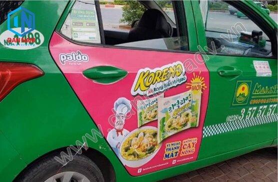 Quảng cáo trên taxi Mai Linh Hải Dương