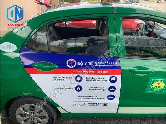 Bộ Y Tế Truyền thông trên taxi tại Hậu Giang