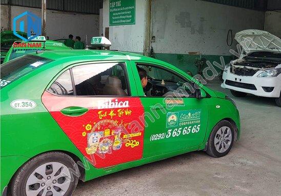 Quảng cáo trên taxi Mai Linh Hậu Giang