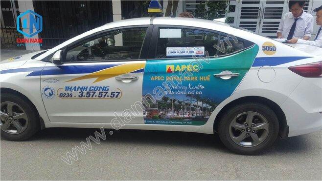 Quảng cáo taxi Thành Công Huế