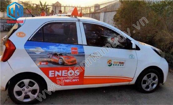 Quảng cáo trên Sun taxi tại Kon Tum - Dầu Nhớt Eneos