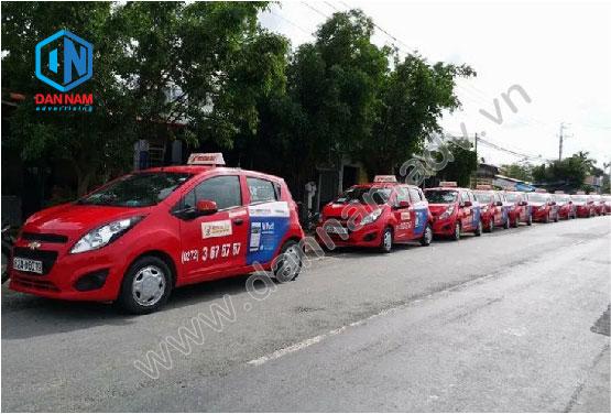 Quảng cáo taxi Sao Đỏ tại Long An