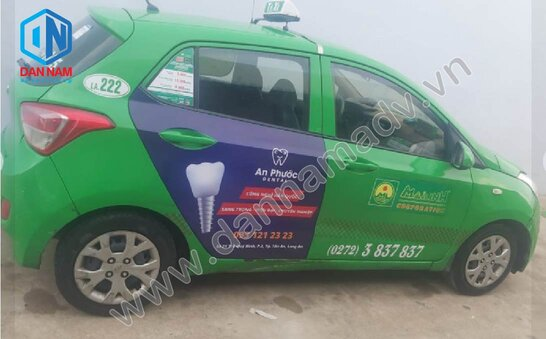 Quảng cáo trên taxi Mai Linh Long An - Nha Khoa An Phước