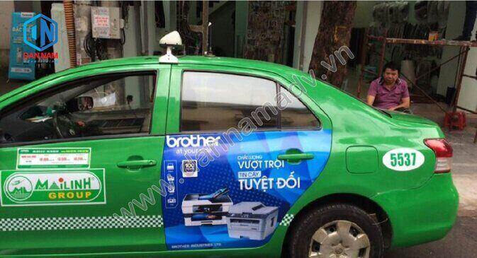 Quảng cáo taxi Mai Linh Nam Định - Máy in Brother