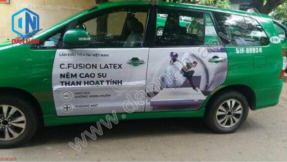 Quảng cáo taxi Mai Linh tại Ninh Bình - Nệm Liên Á