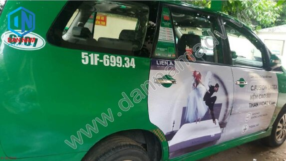 Nệm Liên Á - Quảng cáo taxi tại Ninh Bình